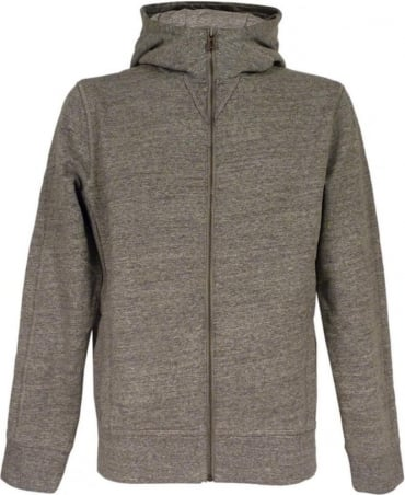 Hugo Boss 'Ztadium' Hooded Sweatshirt In Light Grey